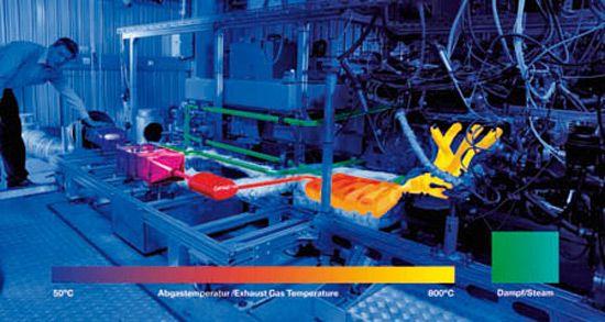 Прототип термоэлектрического генератора пока что может работать только при температуре отработанных газов до 700 градусов Цельсия. Ученые надеются увеличить этот показатель до 1000 С