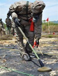 Работа сапера в Дананге в рамках совместного проекта с США