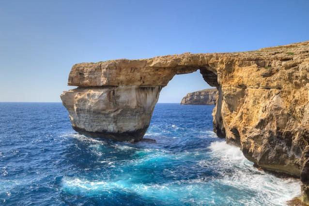 Лазурное окно (Azure Window), Мальта