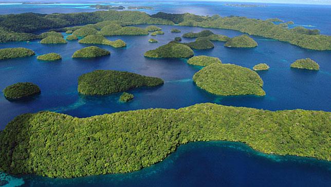 Палау – маленькое островное государство в Микронезии.