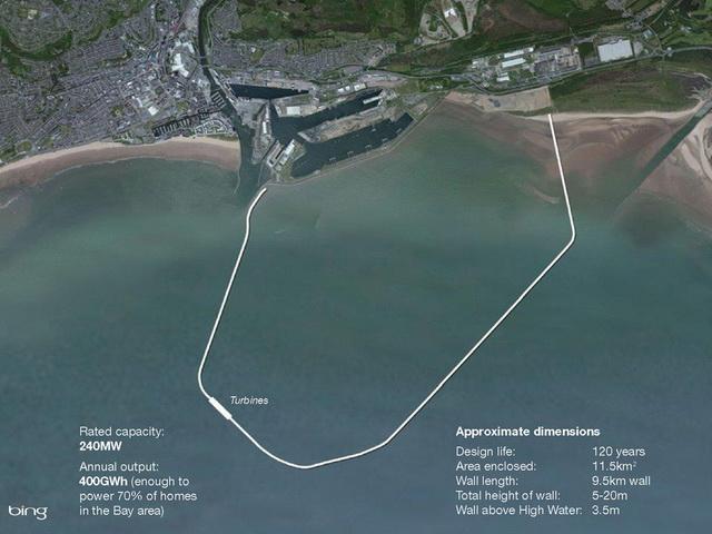 Энергогенерирующая лагуна в заливе Суонси, Великобритания