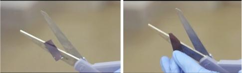 Сверхтонкий кремний можно резать ножницами.