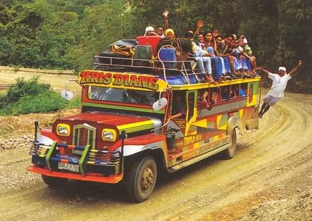 Джипни - филиппинские маршрутки на базе американских джипов второй мировой
