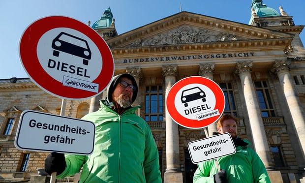 Немецкий  суд запретил заезд  дизельных авто