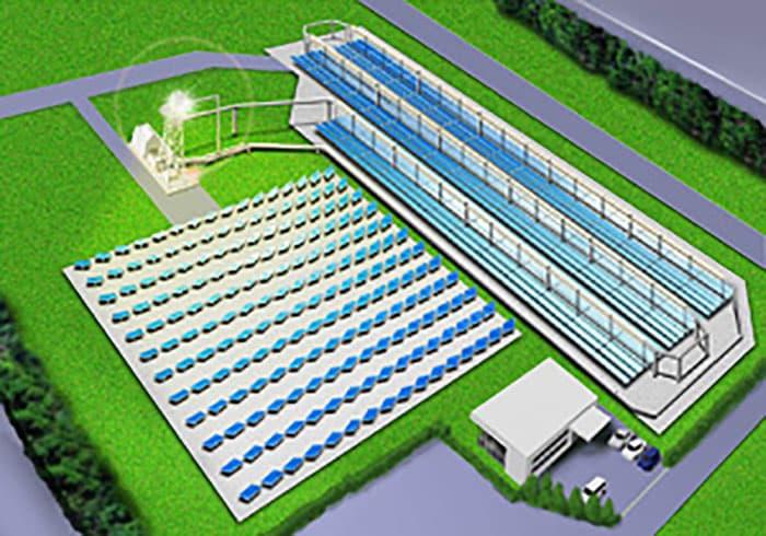 Начались испытания гибридной электростанции концентрированной солнечной энергии