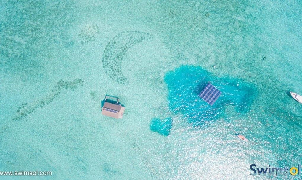 Плавучие солнечные панели на Мальдивах