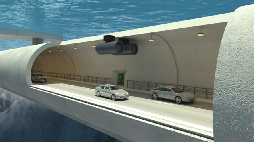 Норвегия строит первый в мире плавучий подводный авто туннель