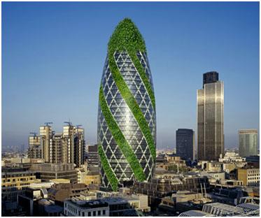 Зеленые небоскребы - дома городов будущего