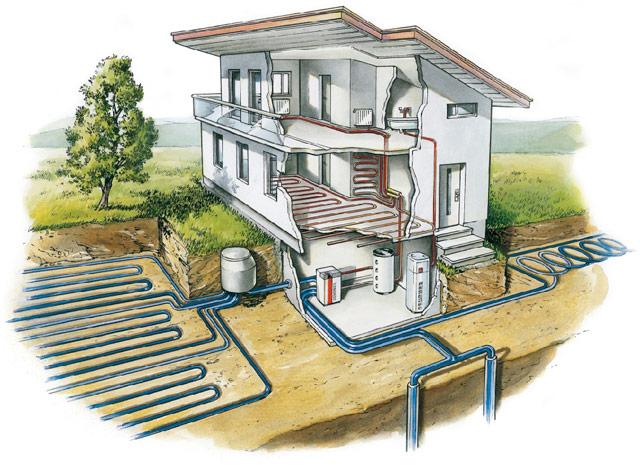 Тепловой насос способен работать как в режиме нагрева, так и в режиме охлаждения помещения.