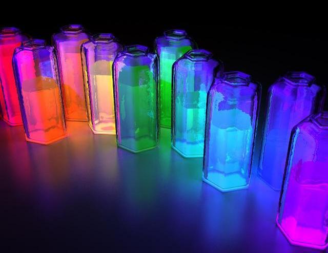 Необычные светильники из стеклотары