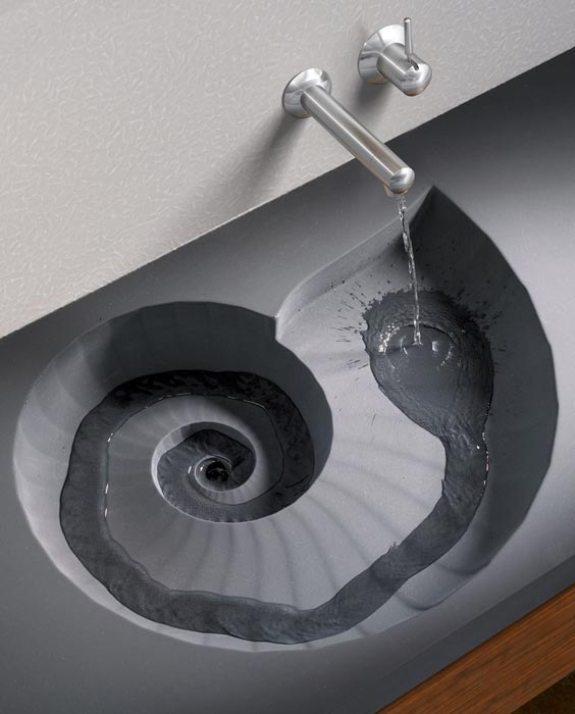 Эко-дизайн: ракушка-спираль в интерьере