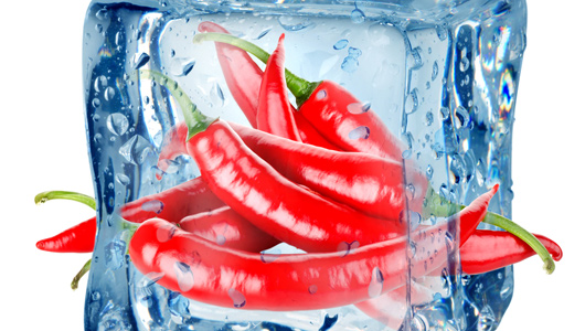 Низкая температура икрасный перец помогают сжигать жиры