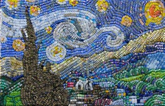 «Звездная ночь» Ван Гога от Aaron Buehring