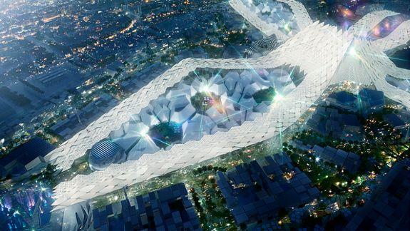 «Хрустальный дворец» ЭКСПО-2020 будет виден из космоса