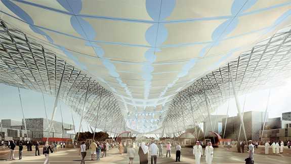 За время работы Всемирной выставки с октября 2020 по апрель 2021 под ее электрическими навесами пройдет 21 миллион посетителей
