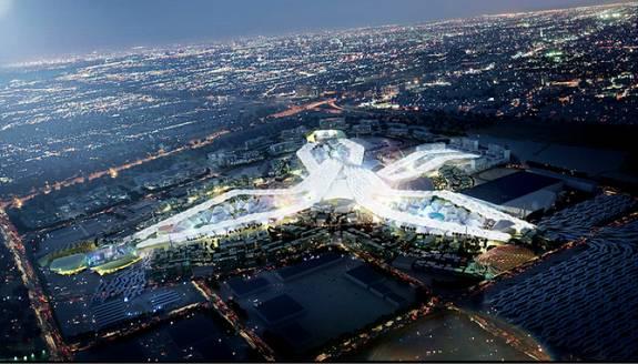 Три основных павильона Экспо-2020 поднимутся над песками на площади в 1082 акра на юго-западной окраине Дубая в Джебель Али