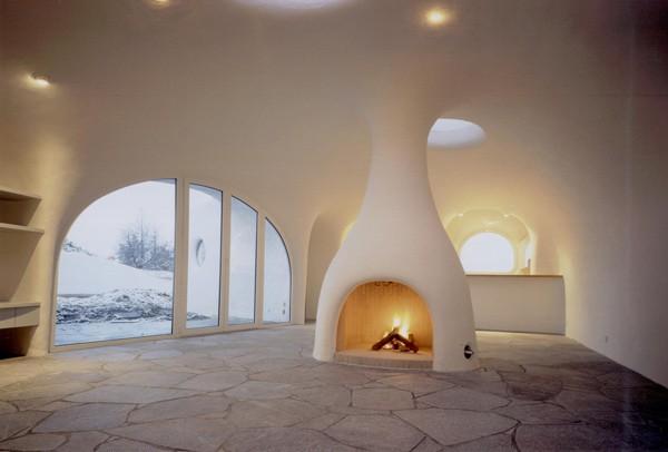 Внутреннее пространство подземного дома