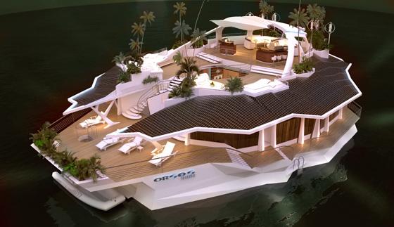 Игрушка для богатых - плавучий остров ORSOS
