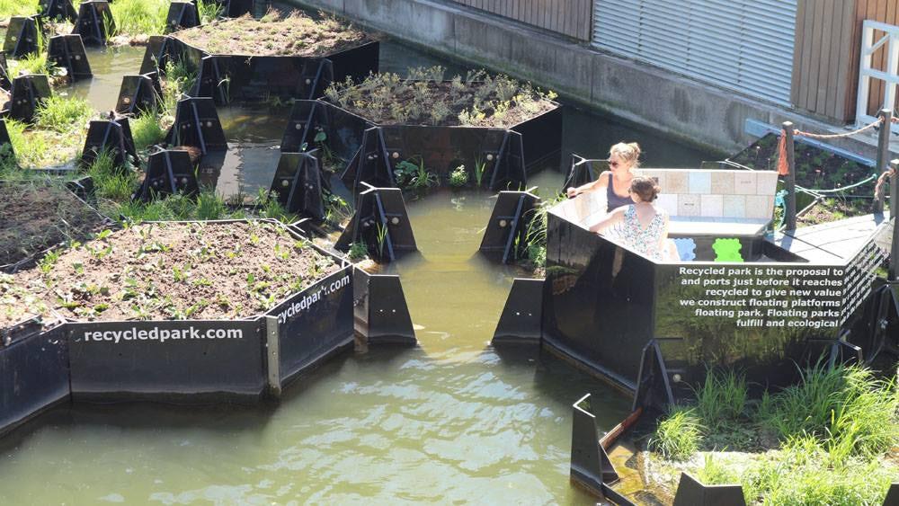 Плавучий парк из переработанного пластика