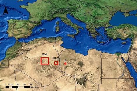 Площадь Сахары, которая обеспечит цивилизацию энергией