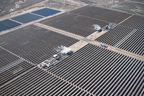 Поля гелиостатов - солнечных коллекторов