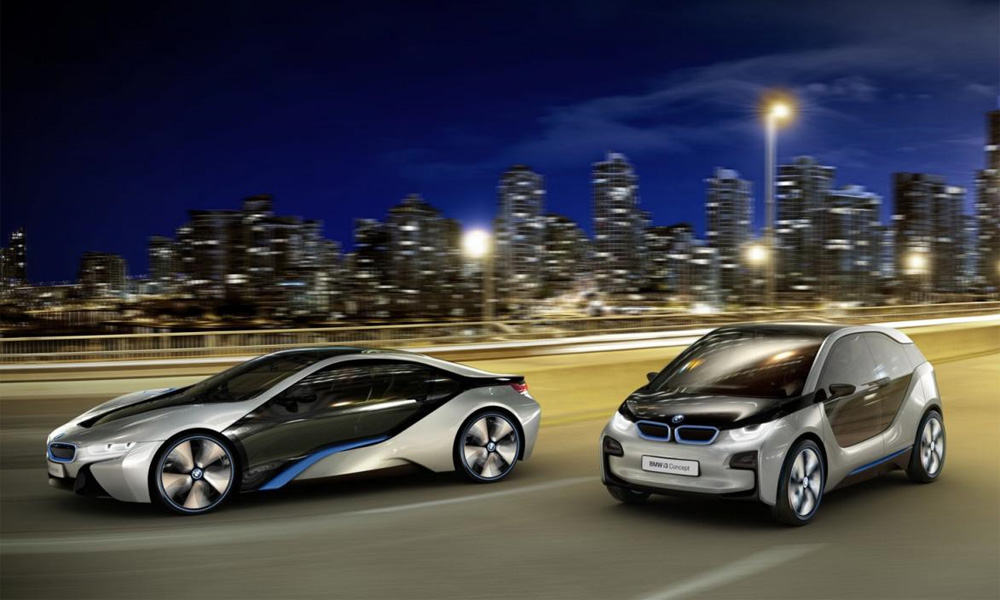 BMW i3 and i8 concepts